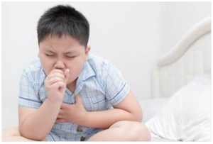 boy coughing