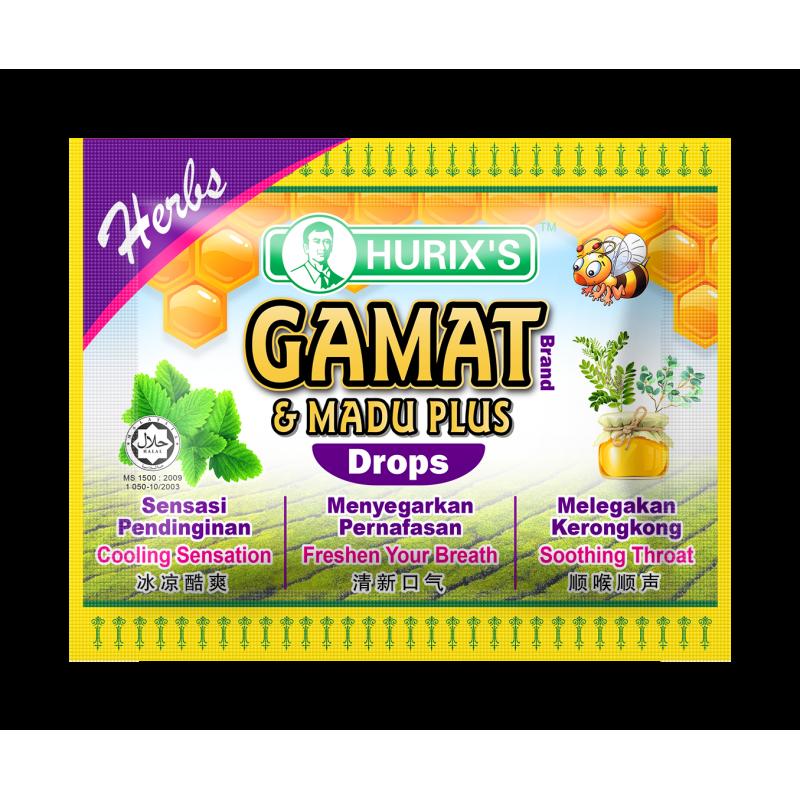 Hurix's Gamat Brand & Madu Plus Drops (Herbs)