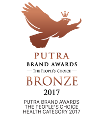 Putra Personality Awards the people's choice health category 2017 logo