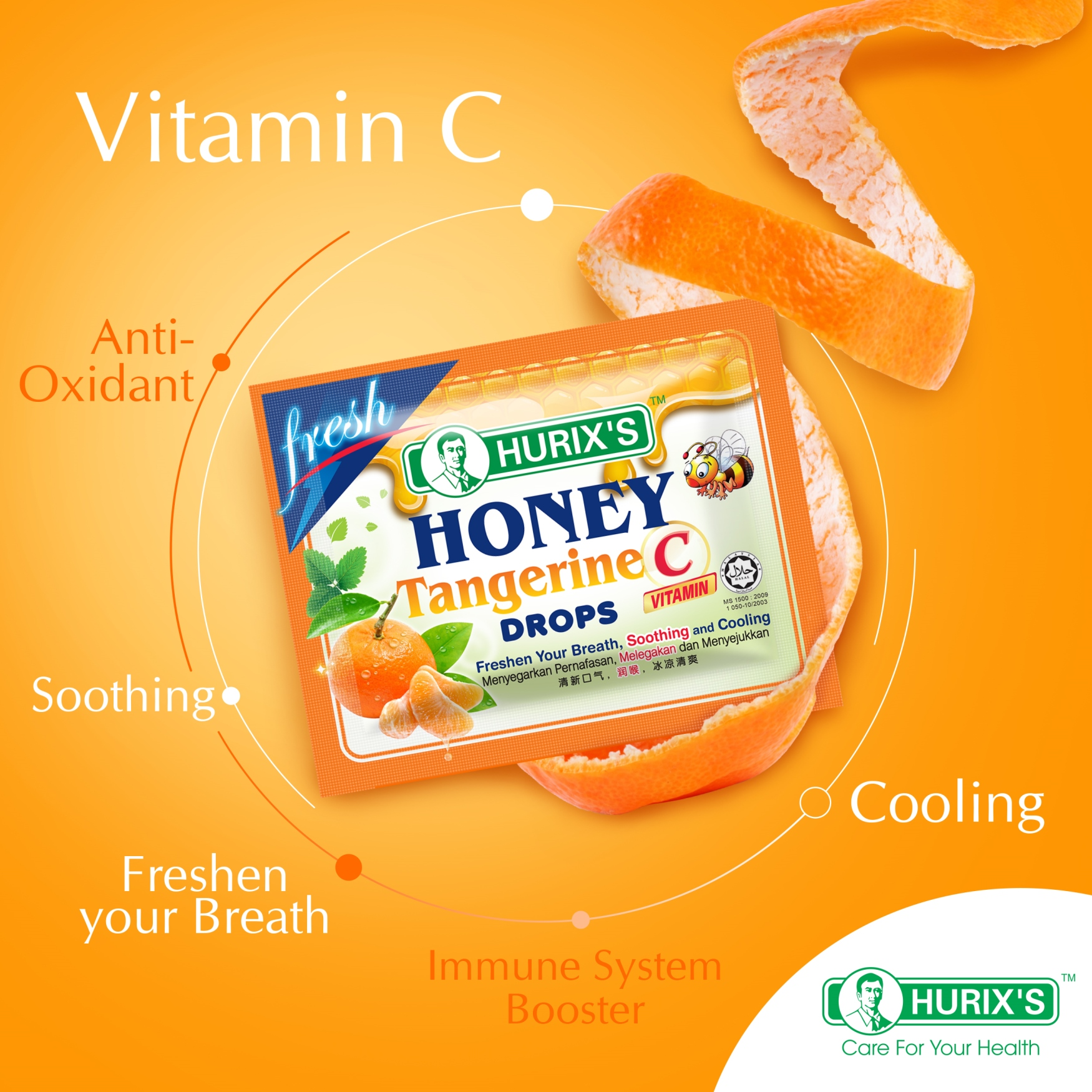 Hurix's Honey Tangerine Drops vitamin C